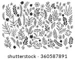 set of sketches and line... | Shutterstock .eps vector #360587891