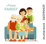social concept   happy family... | Shutterstock .eps vector #360590435