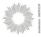 vintage sunburst. hand drawn... | Shutterstock .eps vector #360593159
