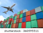 stack of cargo containers in...   Shutterstock . vector #360595511