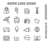 news line icons  mono vector... | Shutterstock .eps vector #360600089