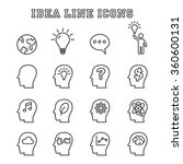 idea line icons  mono vector... | Shutterstock .eps vector #360600131