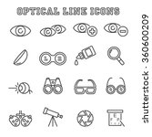 optical line icons  mono vector ... | Shutterstock .eps vector #360600209
