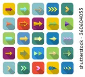 arrow color icons with long...