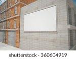 billboard on a building wall ... | Shutterstock . vector #360604919
