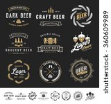collection of 9 beer logos ... | Shutterstock .eps vector #360609989