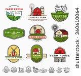 vintage modern farm logo... | Shutterstock .eps vector #360610064