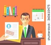 job interview. rejected job... | Shutterstock .eps vector #360610475