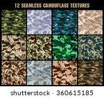 set of original camouflage ... | Shutterstock .eps vector #360615185