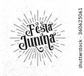 festa junina. traditional... | Shutterstock .eps vector #360625061