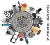 new auto spare parts around... | Shutterstock . vector #360630461