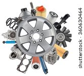 new auto spare parts around... | Shutterstock . vector #360630464