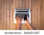 man working on the laptop | Shutterstock . vector #360631187