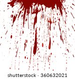 blood splashed white background | Shutterstock . vector #360632021