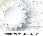 vector illustration gear wheel... | Shutterstock .eps vector #360639659