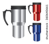 collection tumbler thermos cup...   Shutterstock .eps vector #360640661