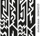 monochrome totem seamless... | Shutterstock .eps vector #360642215