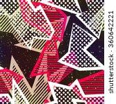 retro fabric seamless pattern. | Shutterstock .eps vector #360642221