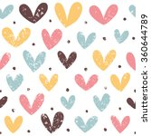 Funny Hearts In Pastel Colors....