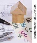 house shape made of wooden... | Shutterstock . vector #360645935