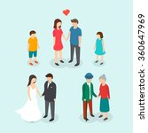 couples love  family  people... | Shutterstock .eps vector #360647969
