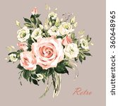 watercolor a bouquet of spring... | Shutterstock . vector #360648965