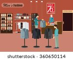clothing store  boutique indoor ... | Shutterstock .eps vector #360650114