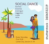 social dance party flyer with... | Shutterstock .eps vector #360653219