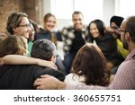team huddle harmony... | Shutterstock . vector #360655751