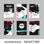 set of templates for brochure....   Shutterstock .eps vector #360657389
