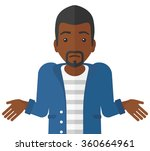 confused man shrugging his... | Shutterstock .eps vector #360664961