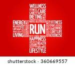 run word cloud  health cross...   Shutterstock .eps vector #360669557