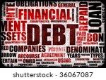 financial debt as a abstract... | Shutterstock . vector #36067087