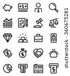 finance line icon set. pixel... | Shutterstock .eps vector #360675281