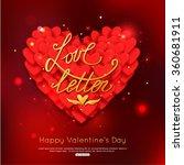 love letter   valentine's day... | Shutterstock .eps vector #360681911