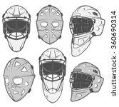 set of vintage ice hockey... | Shutterstock .eps vector #360690314