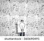 man demonstrating banner with... | Shutterstock . vector #360690491