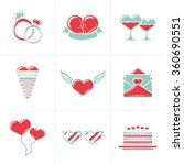 set of st. valentines day... | Shutterstock .eps vector #360690551