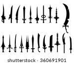 swords set | Shutterstock .eps vector #360691901