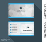 modern creative business card... | Shutterstock .eps vector #360692054