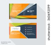 modern creative business card... | Shutterstock .eps vector #360692099