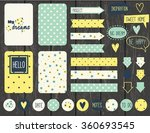 set of vintage creative cards ... | Shutterstock .eps vector #360693545