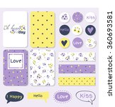 set of vintage creative cards ... | Shutterstock .eps vector #360693581