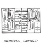 hand drawn wardrobe sketch | Shutterstock .eps vector #360693767