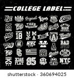 college label set. vintage tee...
