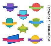 vector badge flat modern style... | Shutterstock .eps vector #360696284
