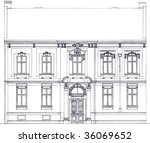 sketch facade of the old house | Shutterstock . vector #36069652