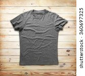 grey shirt over wood background | Shutterstock . vector #360697325