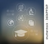 education infographic with... | Shutterstock .eps vector #360699569