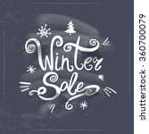 winter sale lettering on... | Shutterstock .eps vector #360700079